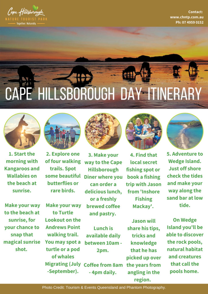 Day Itinerary of Cape Hillsborough